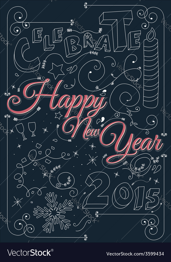 Celebrate happy new year 2015 vector | Price: 1 Credit (USD $1)