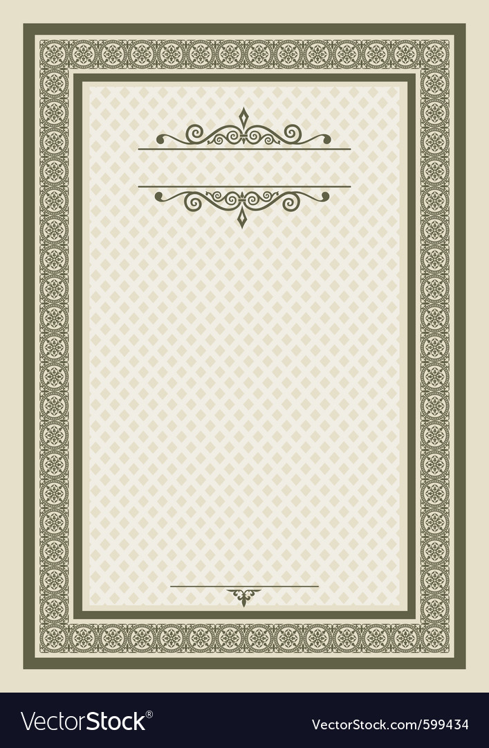 Classical frame vector | Price: 1 Credit (USD $1)