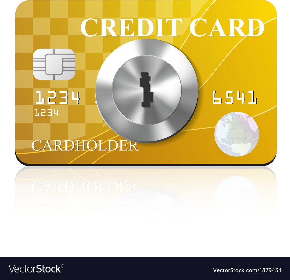 Credit card with keyhole vector | Price: 1 Credit (USD $1)