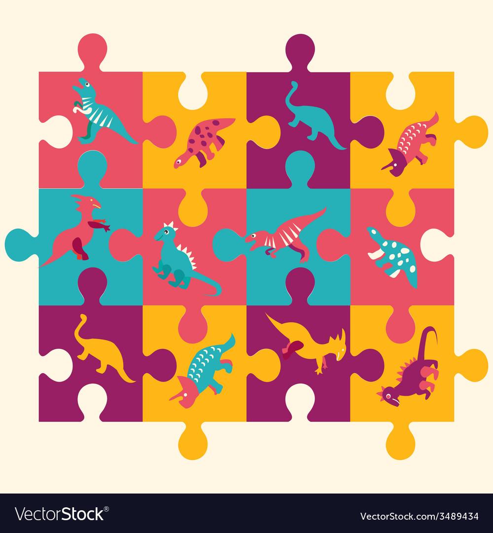 Dino puzzle 1 38 vector | Price: 1 Credit (USD $1)