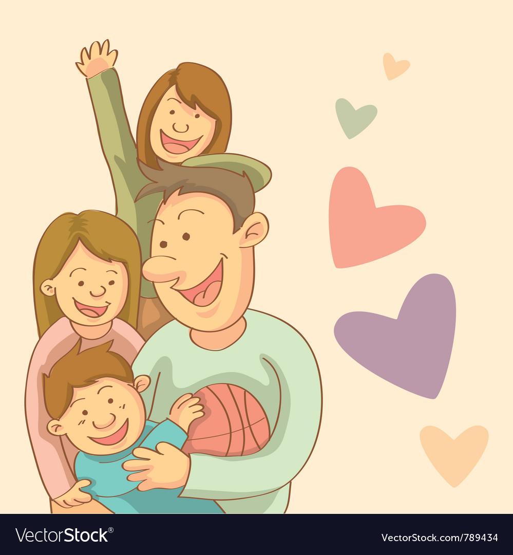 Happy family vector | Price: 3 Credit (USD $3)