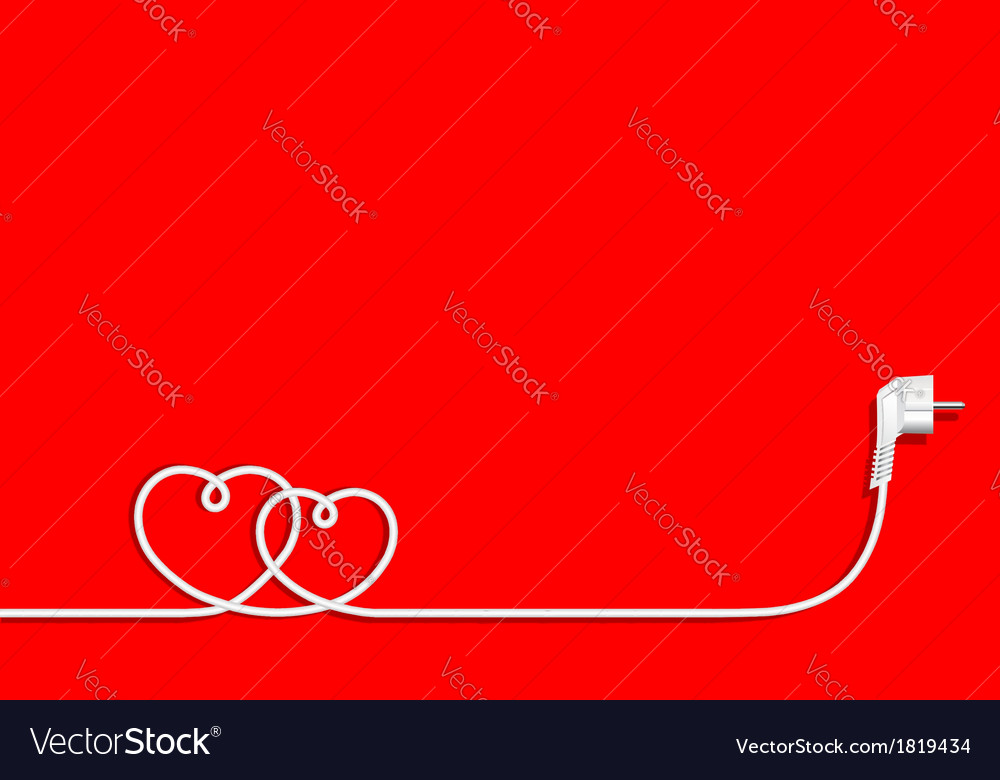 Hearts of electric wire vector | Price: 1 Credit (USD $1)