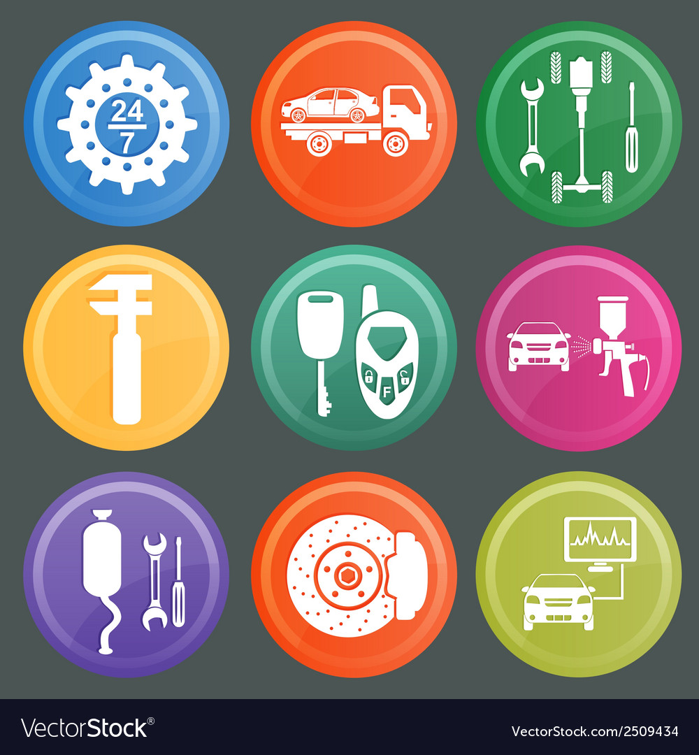 Icon car service 7 vector | Price: 1 Credit (USD $1)