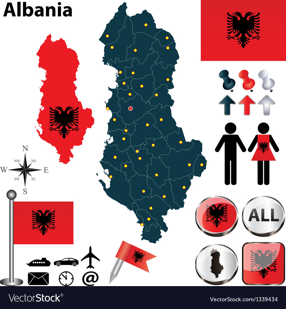 Map of albania vector   Price: 1 Credit (USD $1)