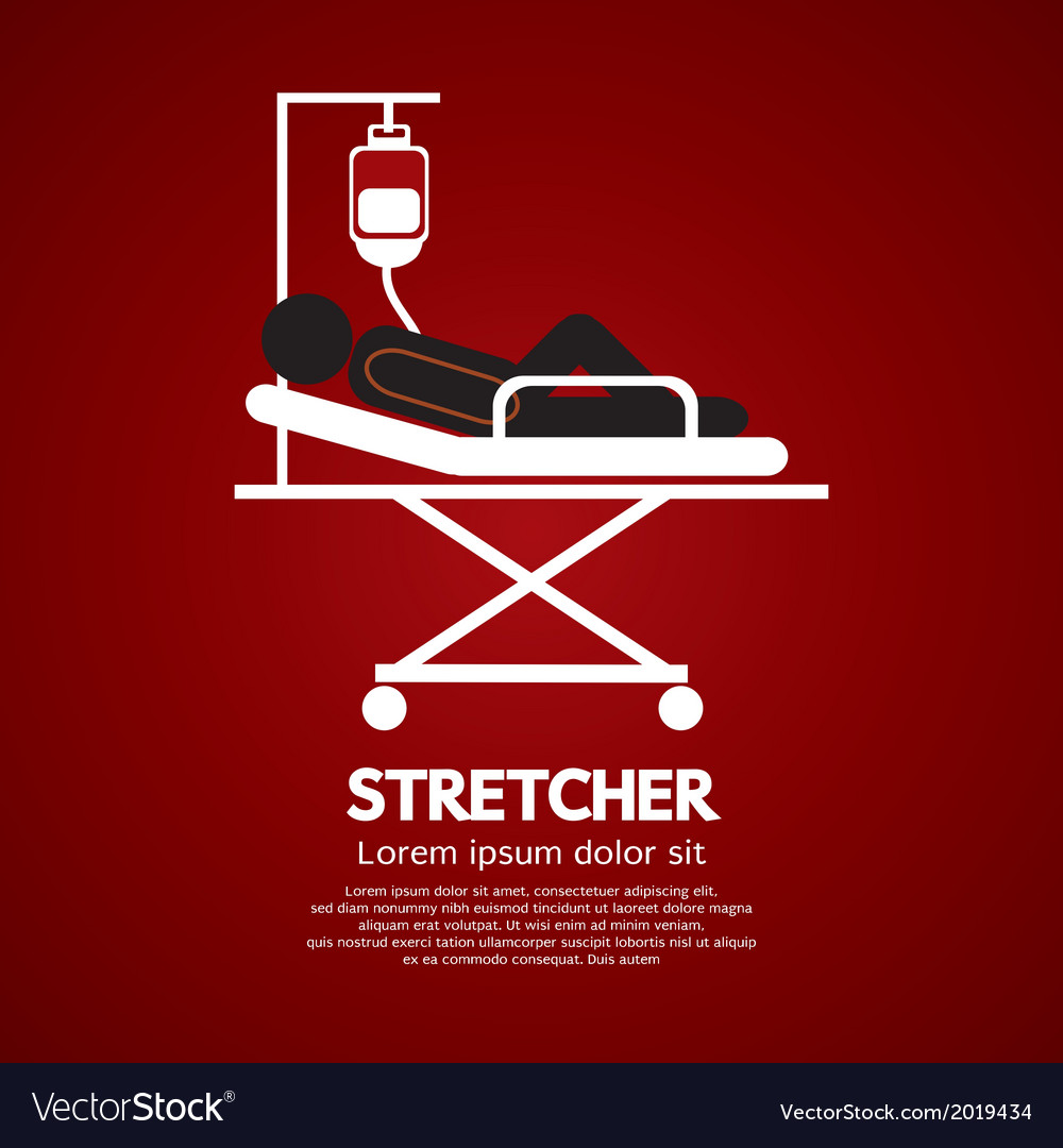 Patient lay down on stretcher vector | Price: 1 Credit (USD $1)