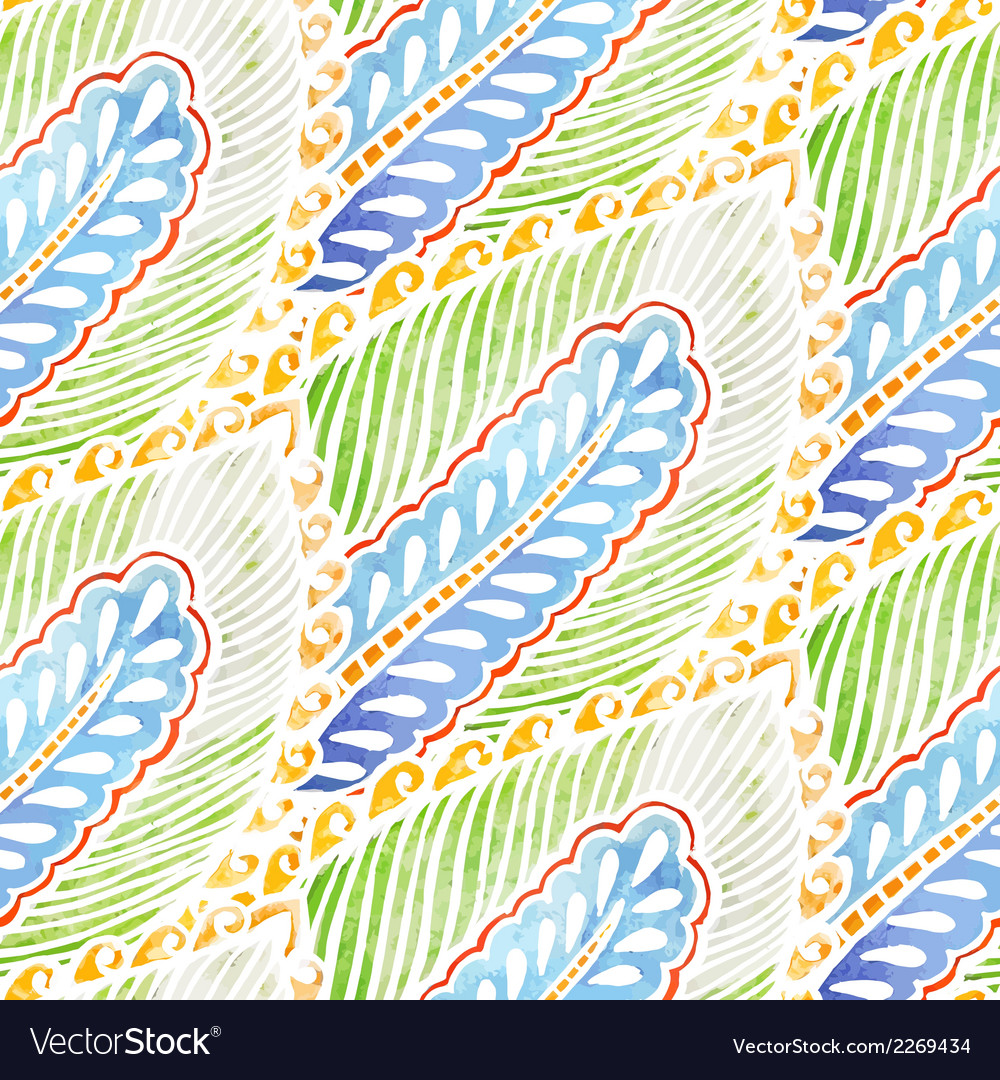 Seamless watercolor background pattern vector | Price: 1 Credit (USD $1)