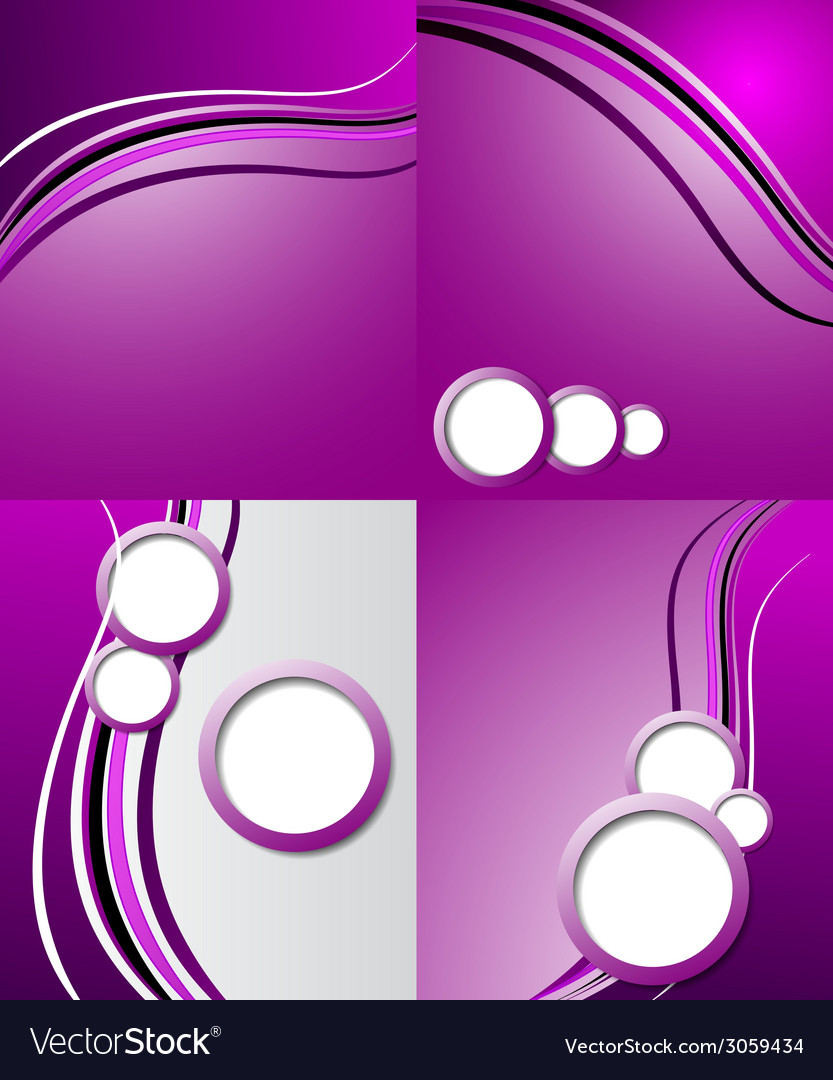 Set of elegant abstract purple background with for vector | Price: 1 Credit (USD $1)