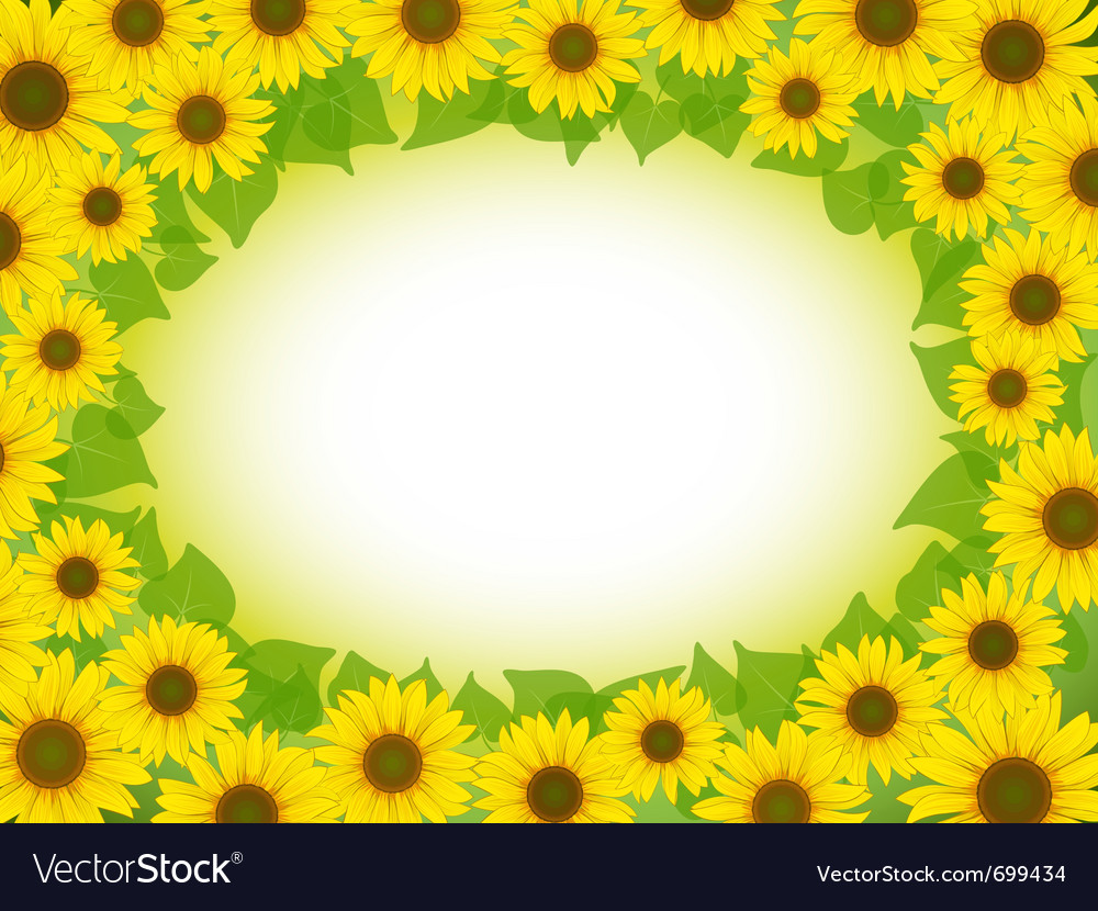 Sunflower frame vector | Price: 1 Credit (USD $1)