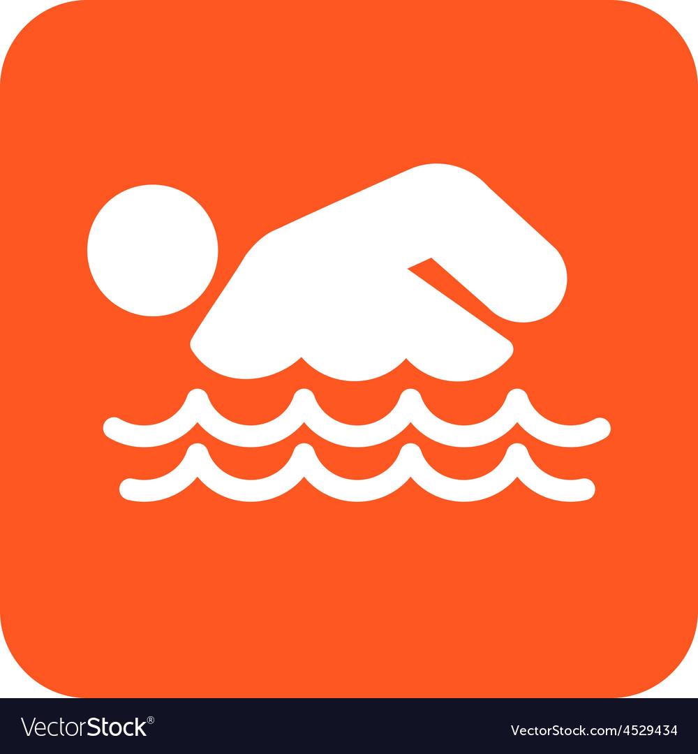 Swimming person vector | Price: 1 Credit (USD $1)