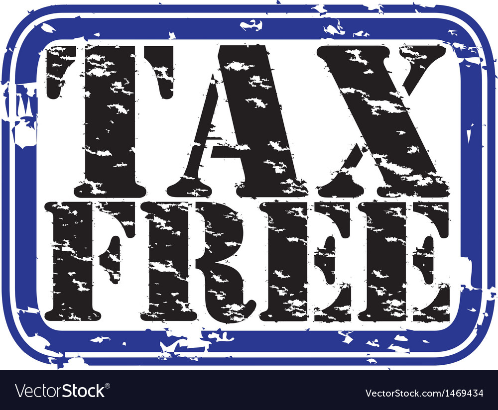Tax free stamp vector | Price: 1 Credit (USD $1)
