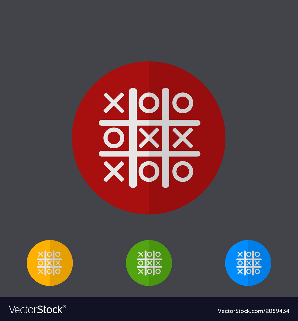 Tic tac toe circle icon set vector | Price: 1 Credit (USD $1)