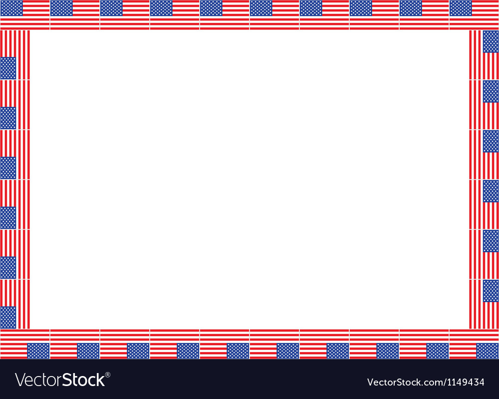 United states flag frame vector | Price: 1 Credit (USD $1)