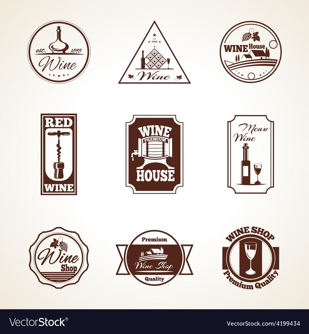 Wine label set vector | Price: 1 Credit (USD $1)