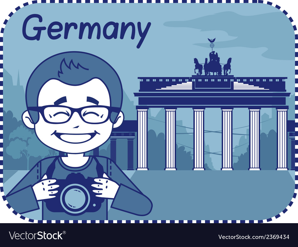 With brandenburg gate in berlin vector | Price: 1 Credit (USD $1)