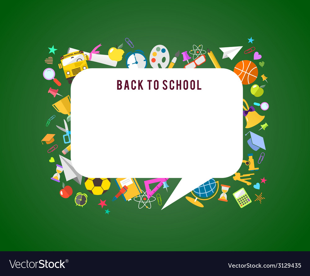 Back to school speech bubble background and vector | Price: 1 Credit (USD $1)