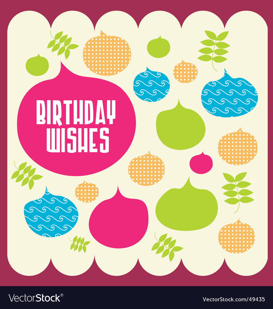 Birthday wishes vector | Price: 1 Credit (USD $1)