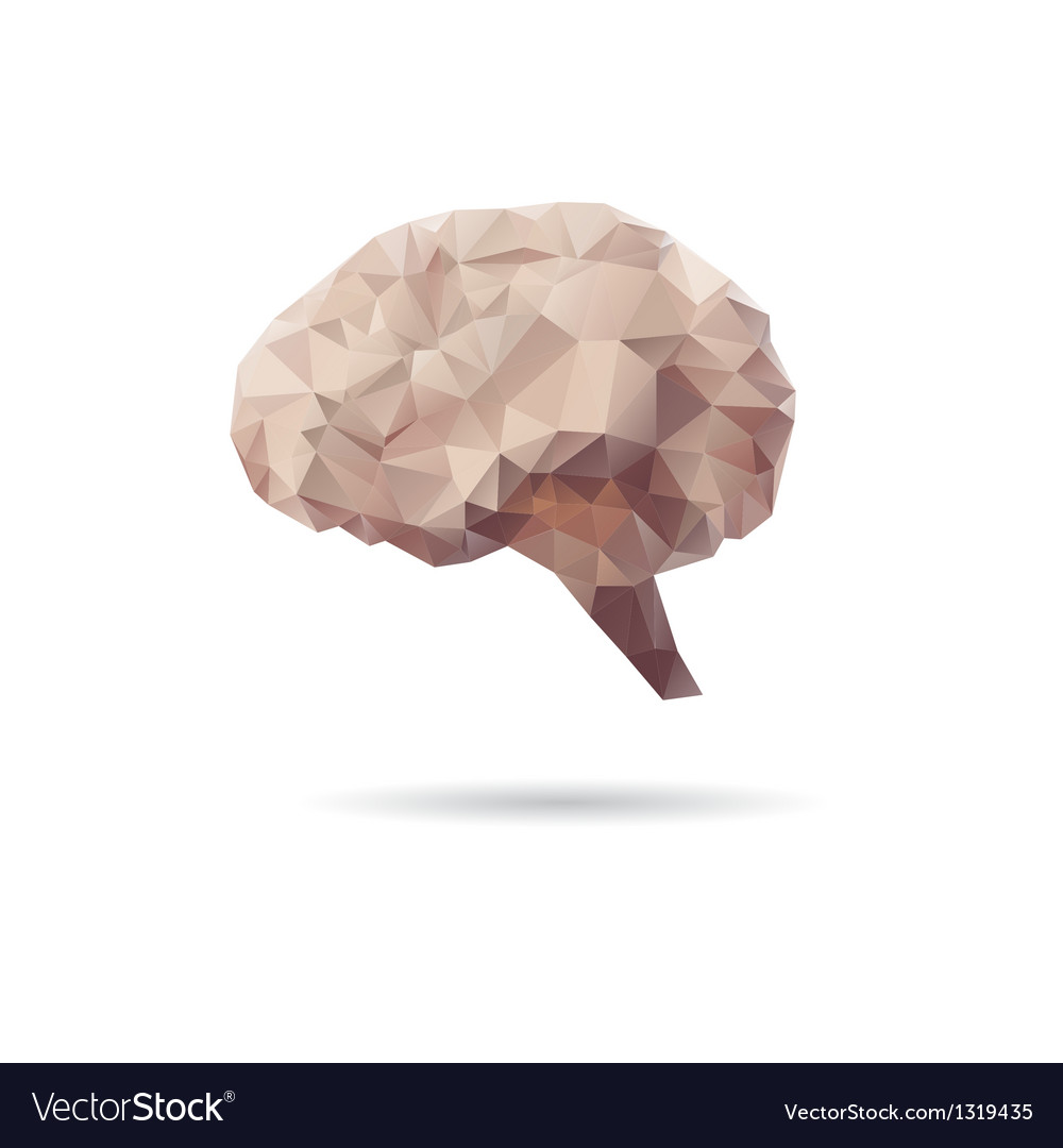 Brain abstract isolated on a white backgrounds vector | Price: 1 Credit (USD $1)