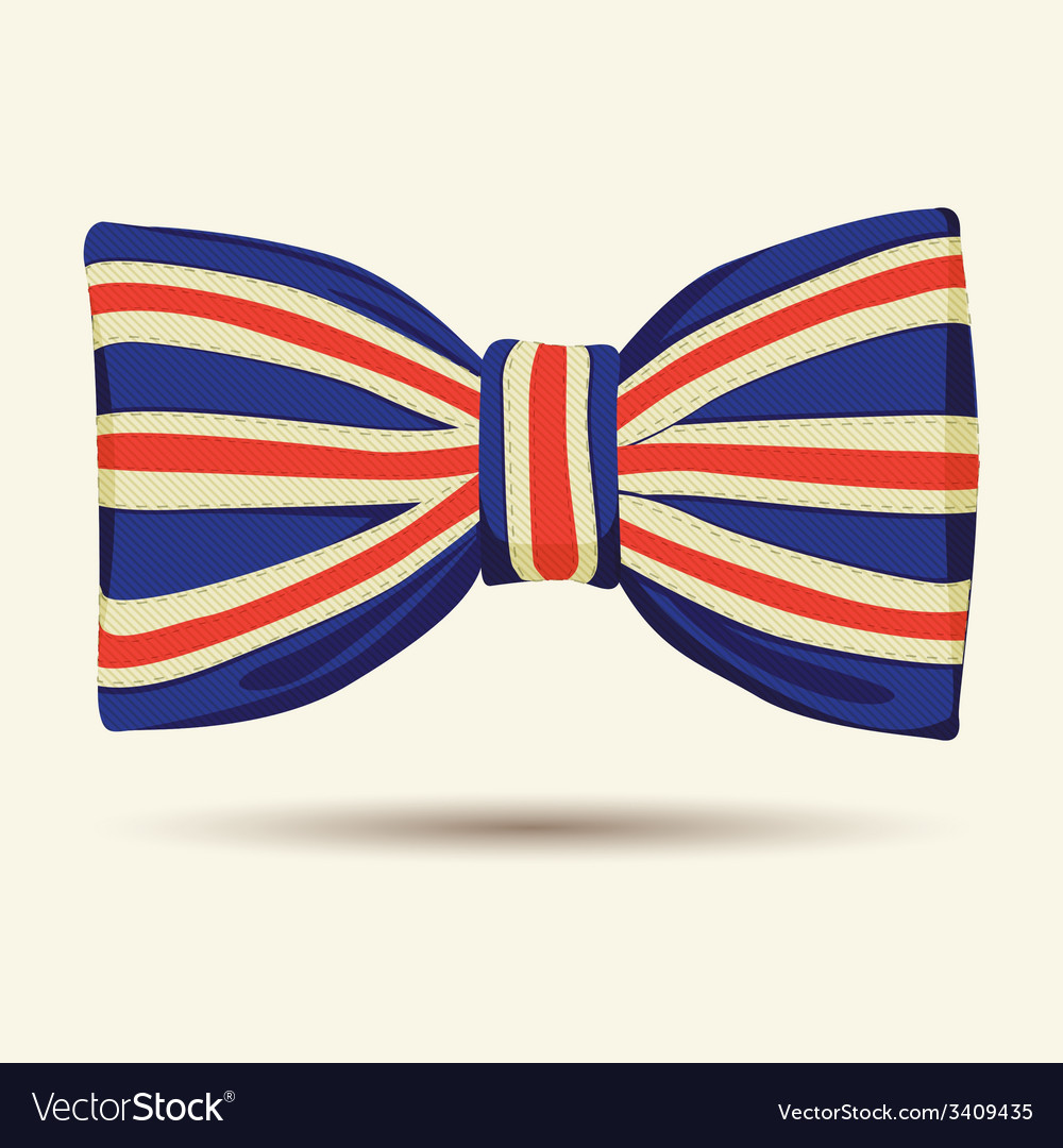 Britain flag bow-tie vector | Price: 1 Credit (USD $1)