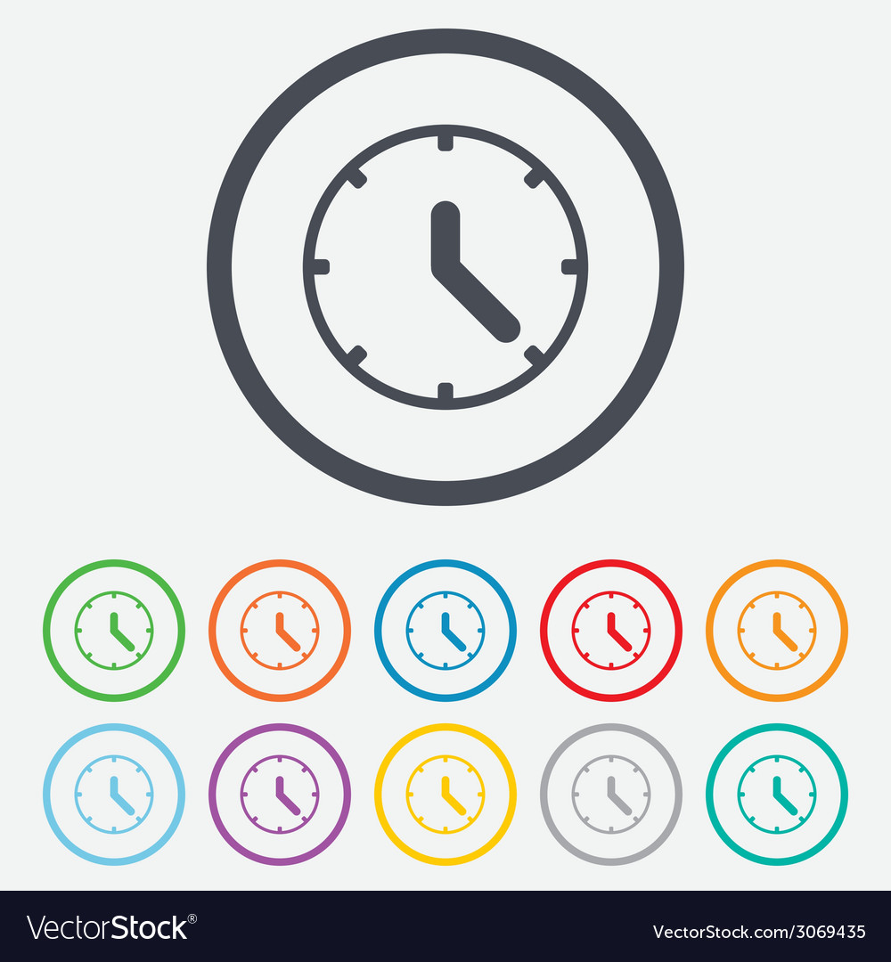 Clock sign icon mechanical clock symbol vector | Price: 1 Credit (USD $1)