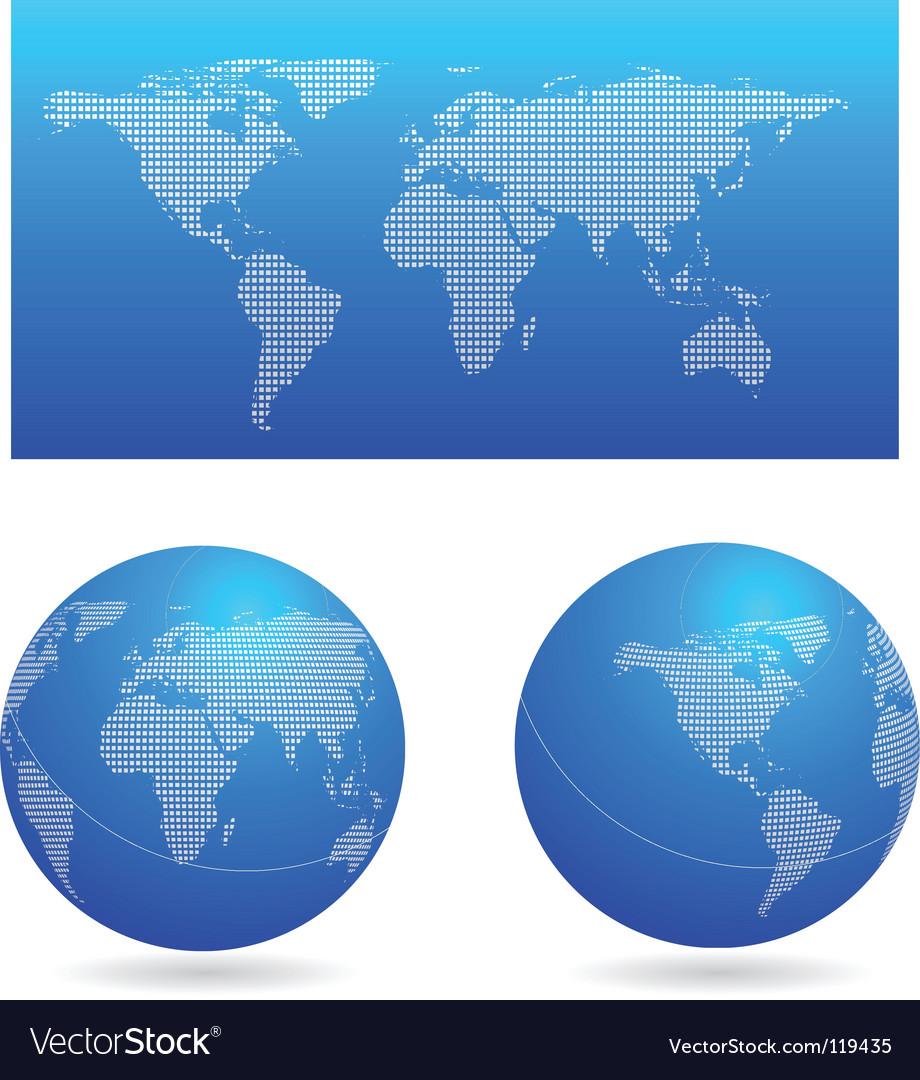 Digital world vector   Price: 1 Credit (USD $1)