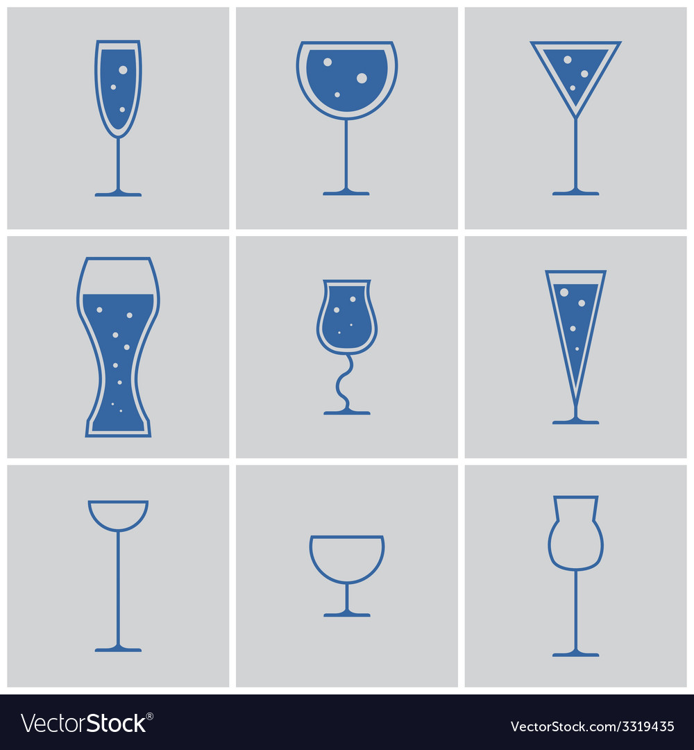 Drink glasses vector | Price: 1 Credit (USD $1)