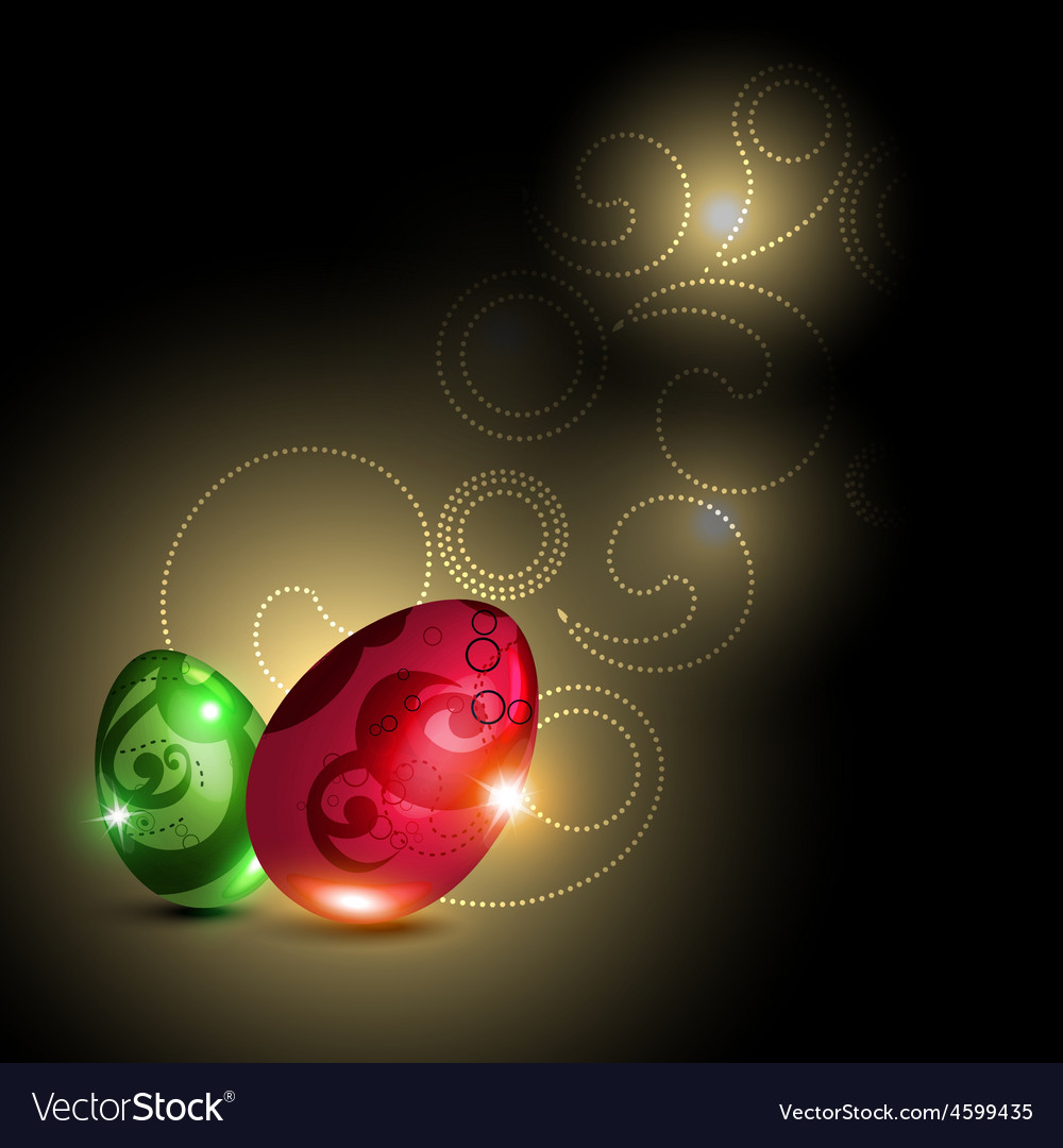 Glowing egg vector | Price: 1 Credit (USD $1)
