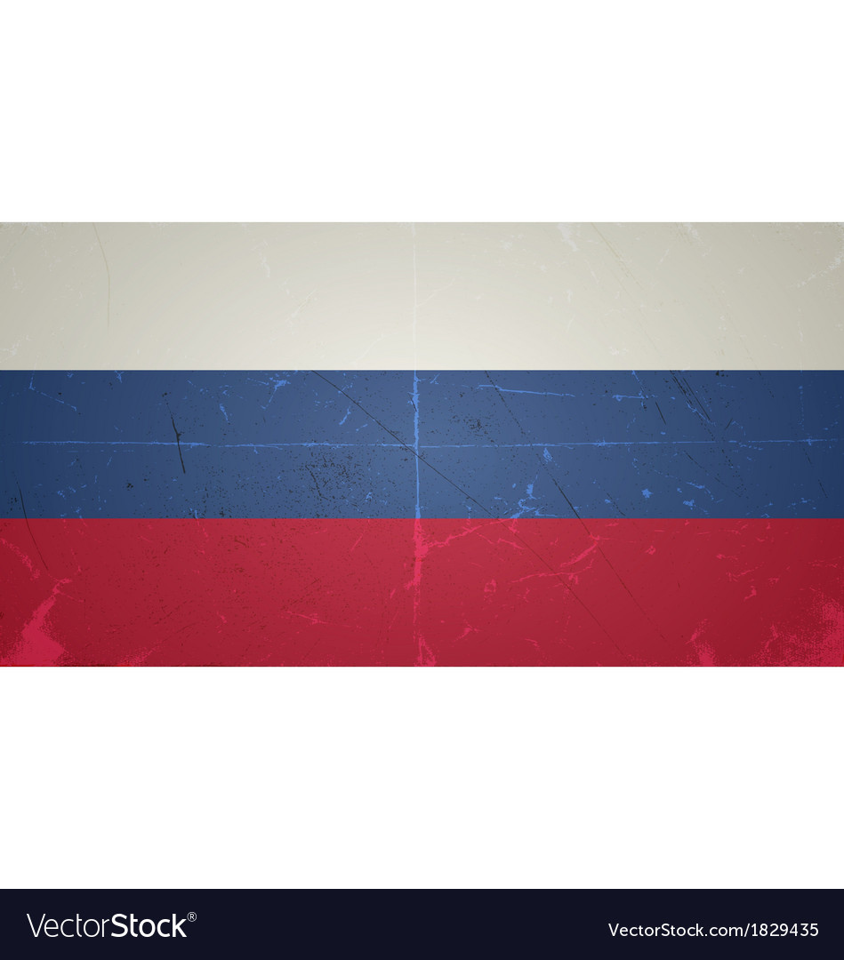 Grunge flags - russian federation vector | Price: 1 Credit (USD $1)