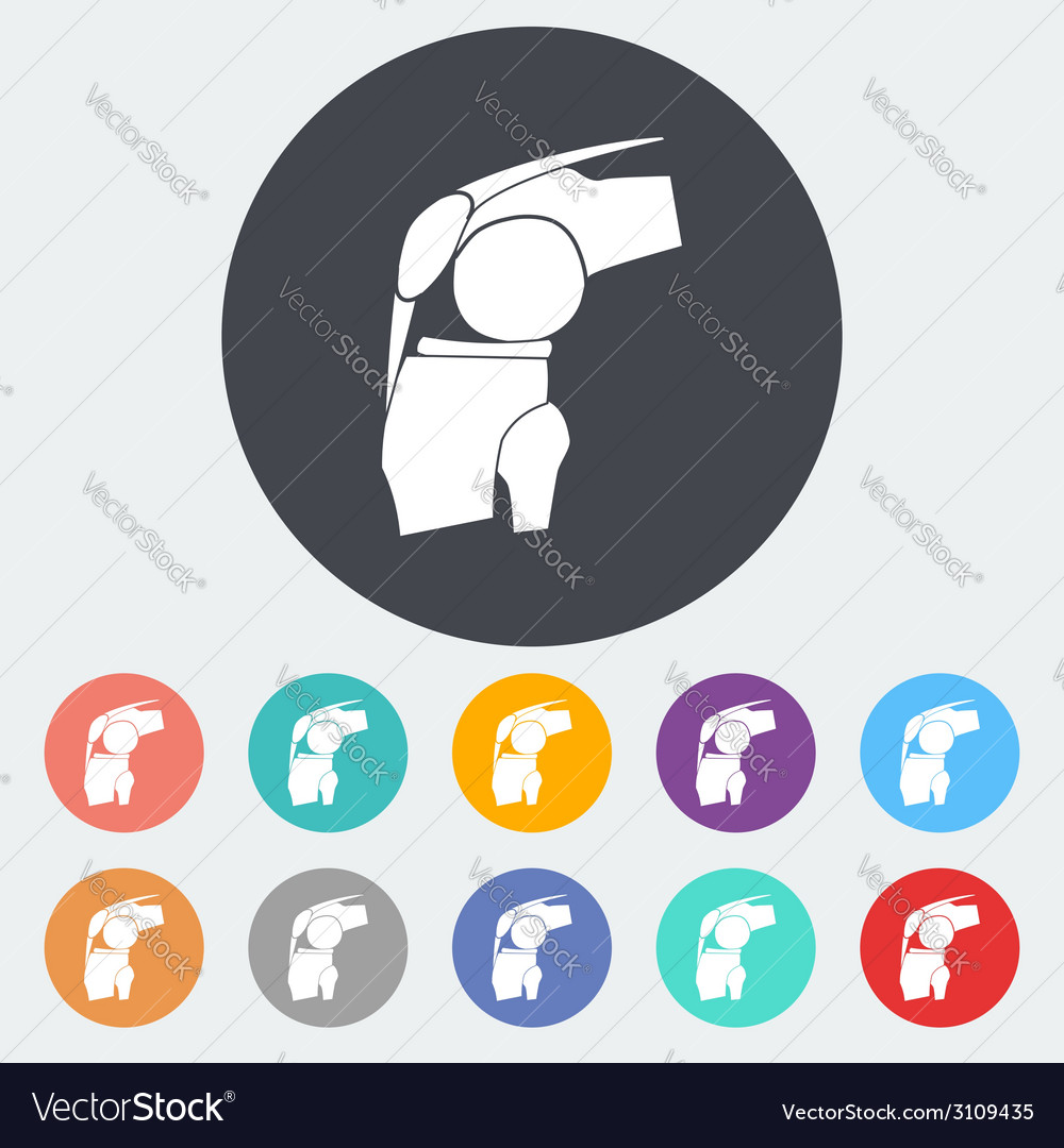 Joint single icon vector | Price: 1 Credit (USD $1)