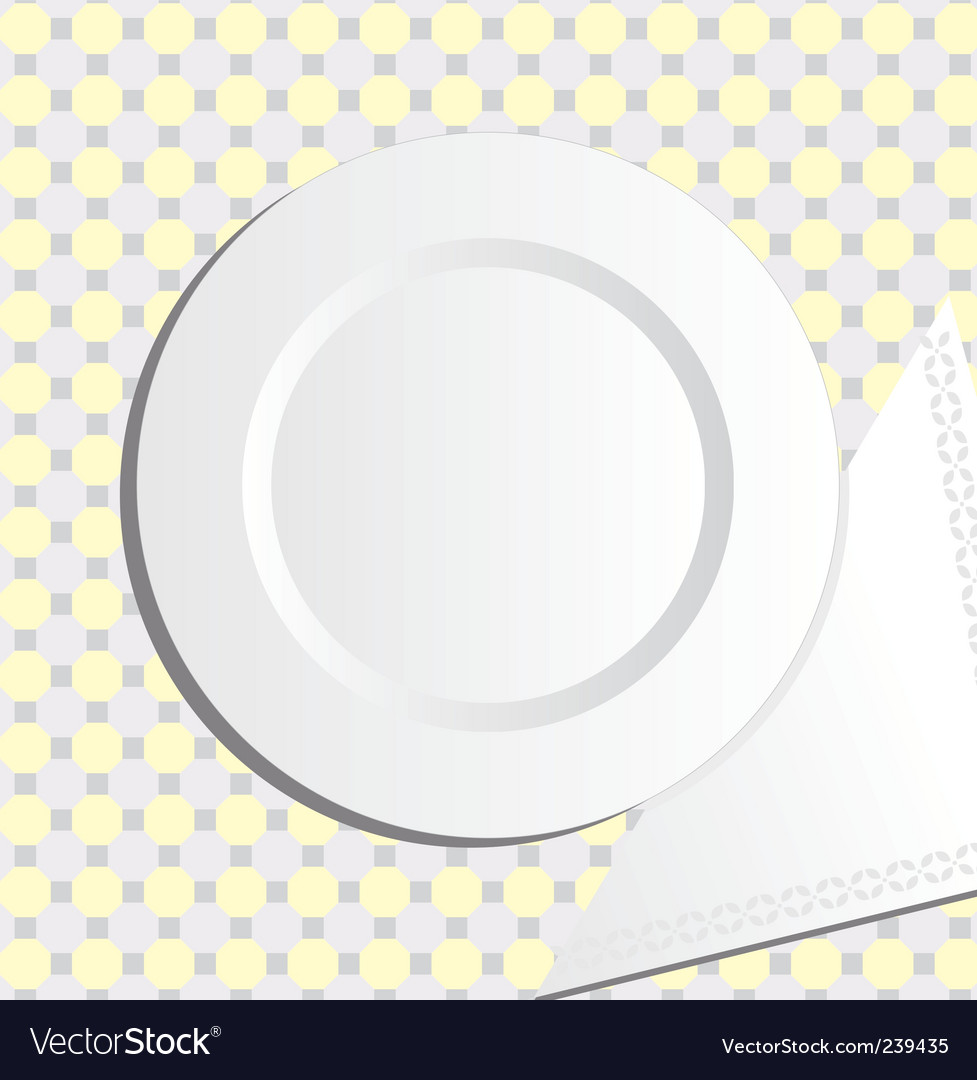 Plate and napkin vector | Price: 1 Credit (USD $1)