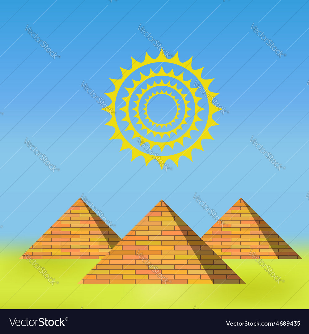 Pyramids vector | Price: 1 Credit (USD $1)