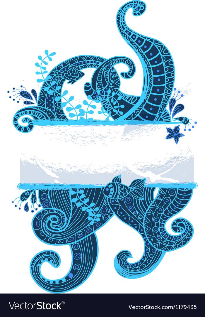 Sea ornament vector   Price: 1 Credit (USD $1)
