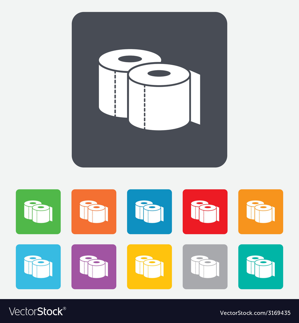 Toilet papers sign icon wc roll symbol vector | Price: 1 Credit (USD $1)