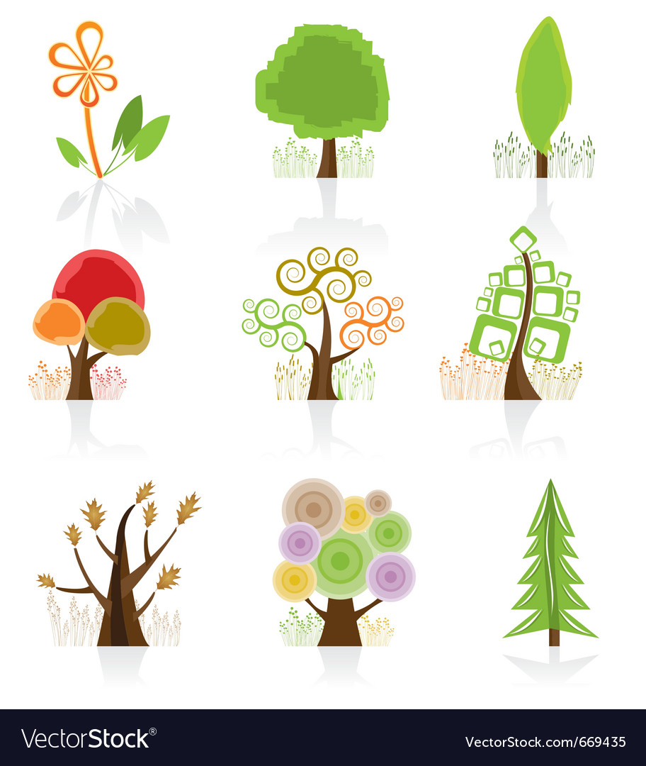 Tree collection icon vector | Price: 1 Credit (USD $1)
