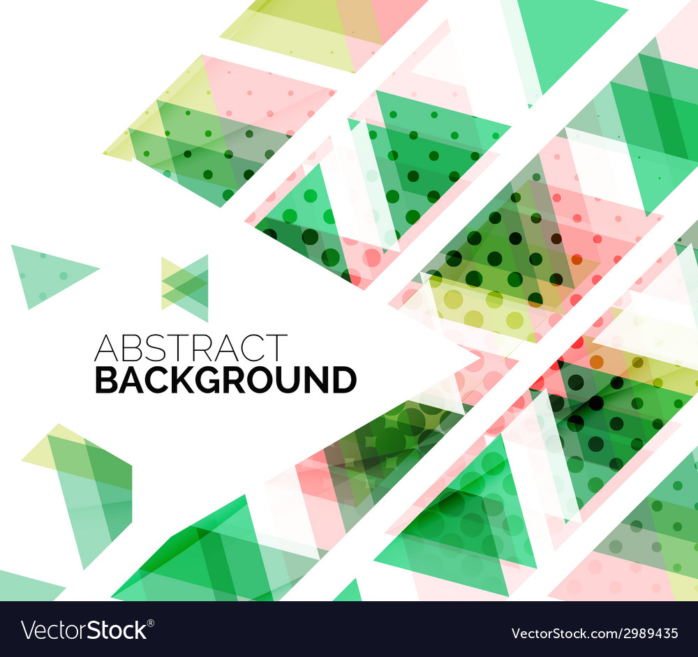 Triangles geometric clean abstract background vector | Price: 1 Credit (USD $1)