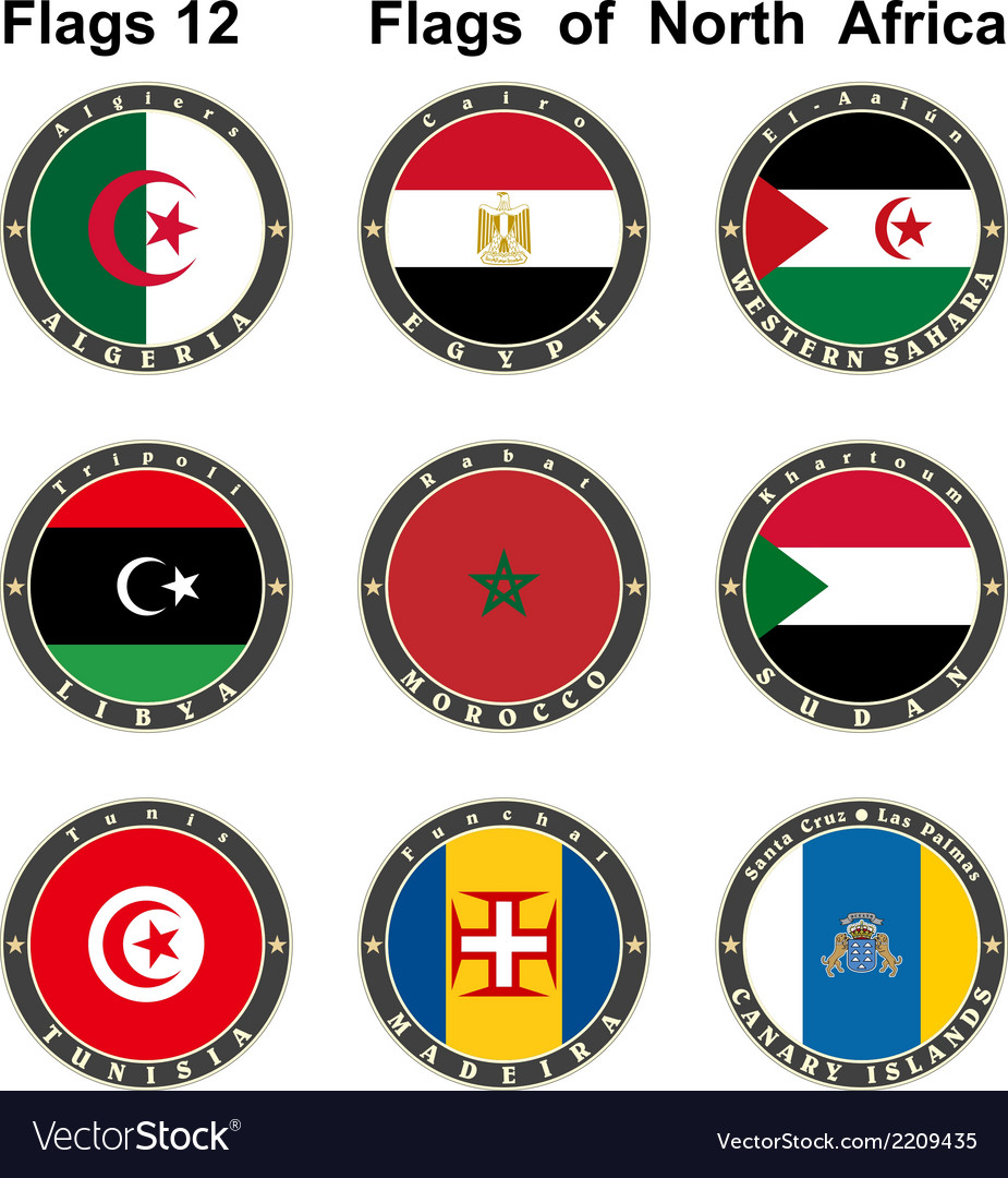 World flags north africa vector | Price: 1 Credit (USD $1)