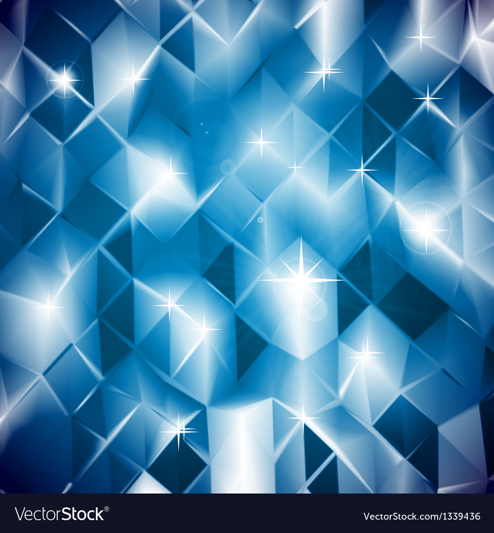 Blue triangles shine background vector | Price: 1 Credit (USD $1)