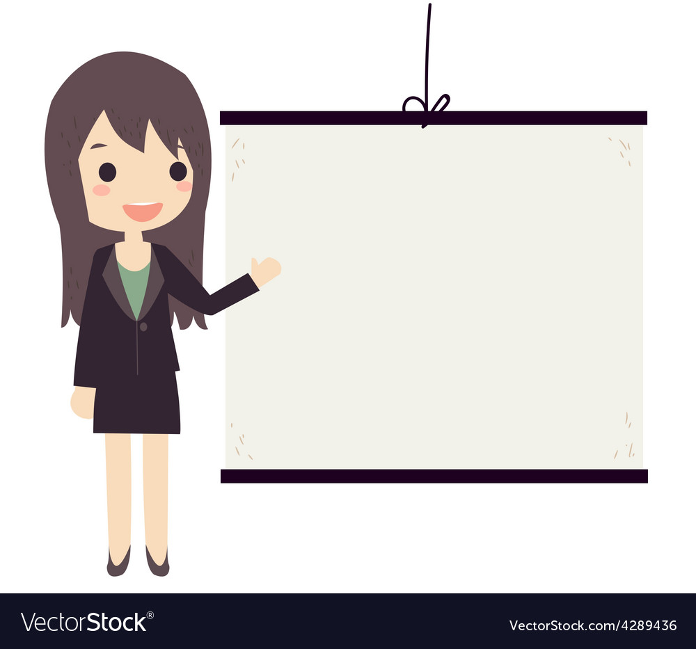 Business woman presentation vector | Price: 1 Credit (USD $1)