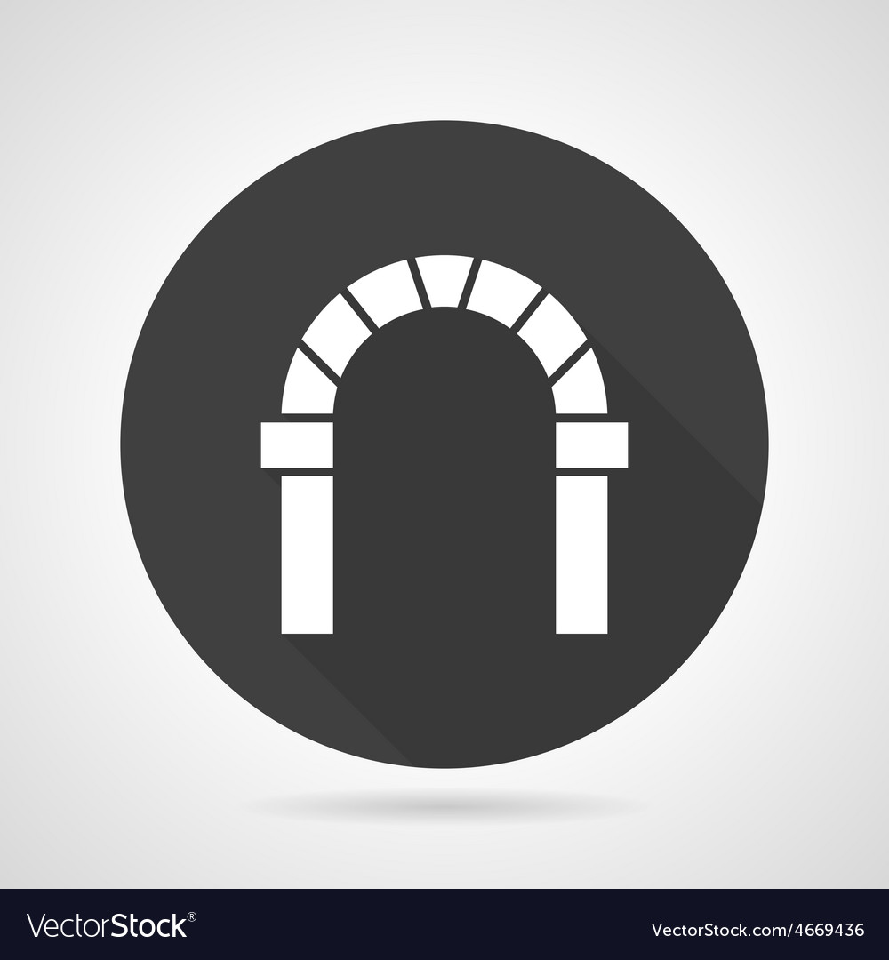 Curved archway black round icon vector | Price: 1 Credit (USD $1)