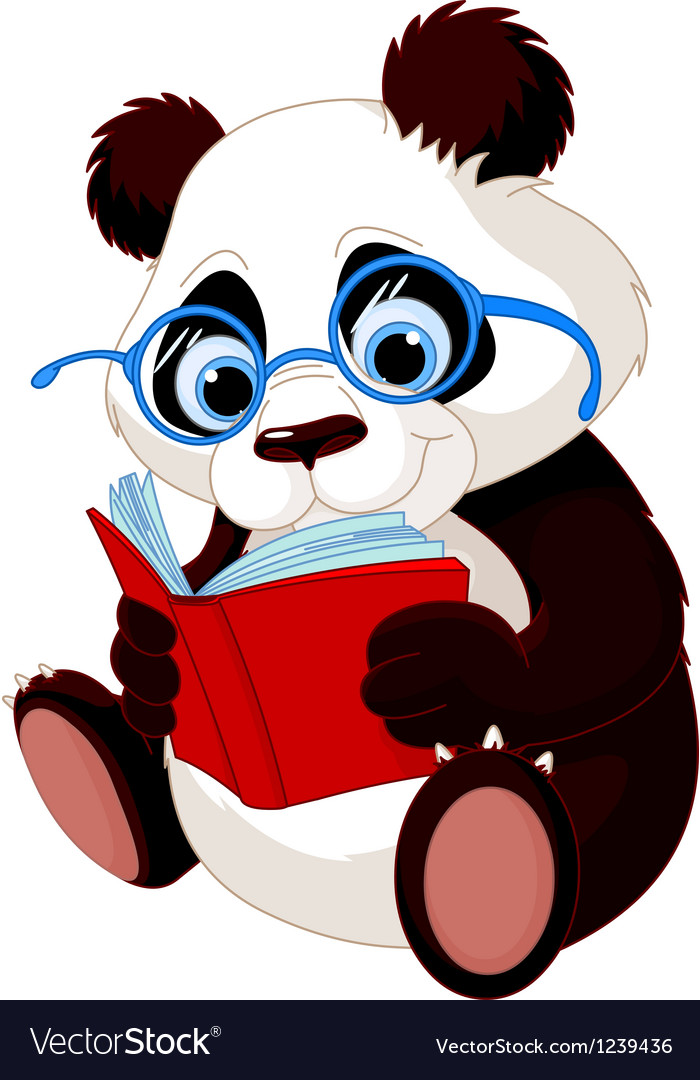 Cute panda education vector | Price: 3 Credit (USD $3)