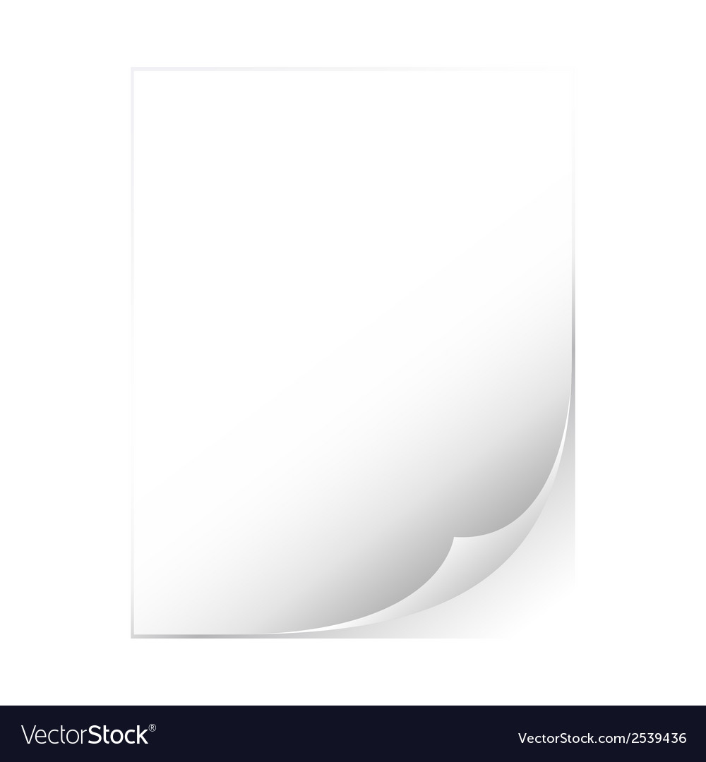 Empty sheet of paper vector | Price: 1 Credit (USD $1)