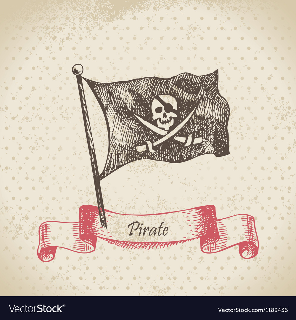Pirate banner vector | Price: 1 Credit (USD $1)