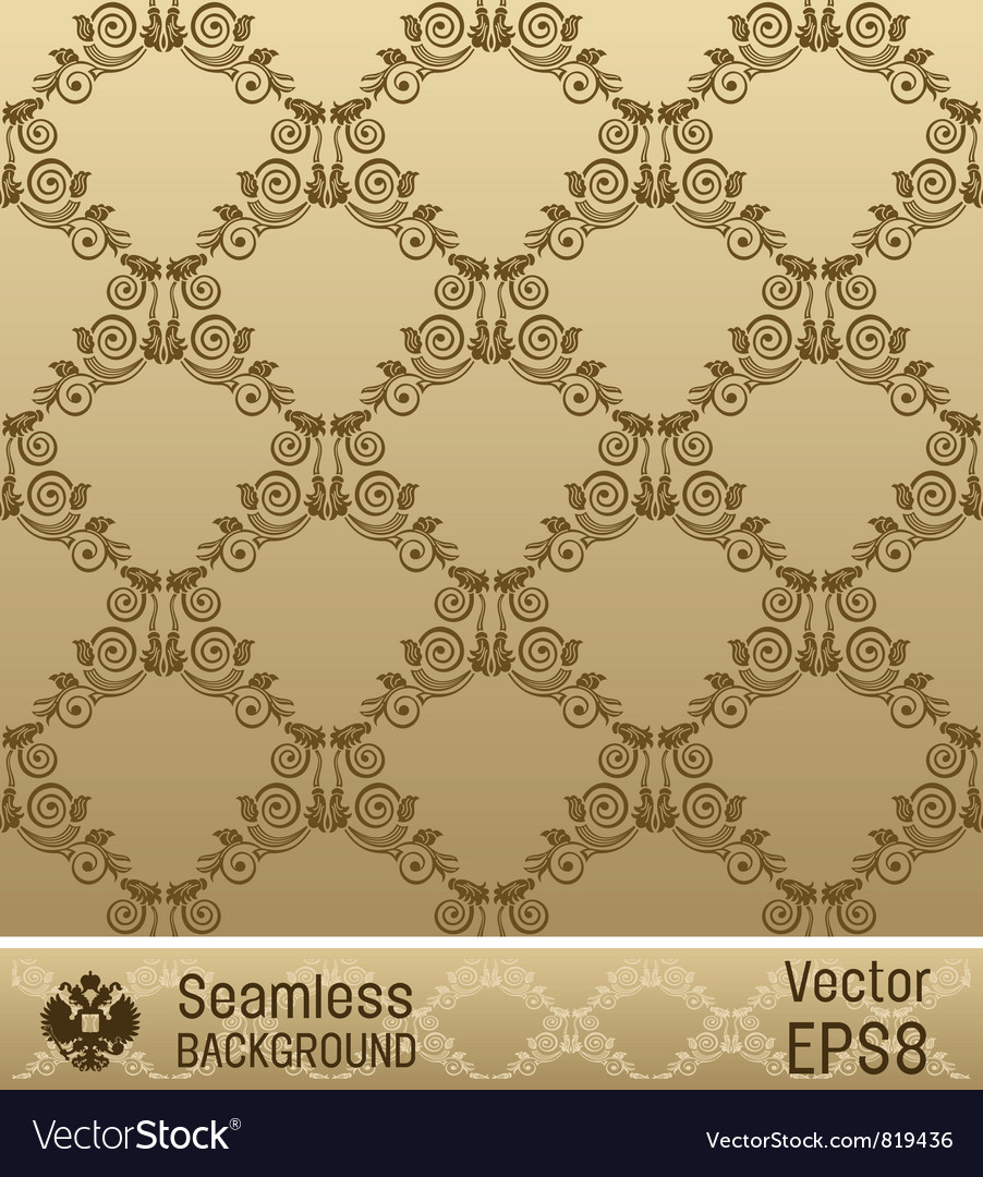 Wallpaper ornament vintage vector | Price: 1 Credit (USD $1)
