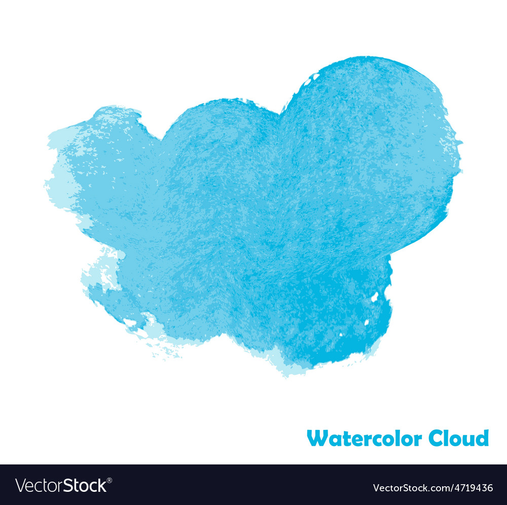 Watercolor cloud for your design vector   Price: 1 Credit (USD $1)