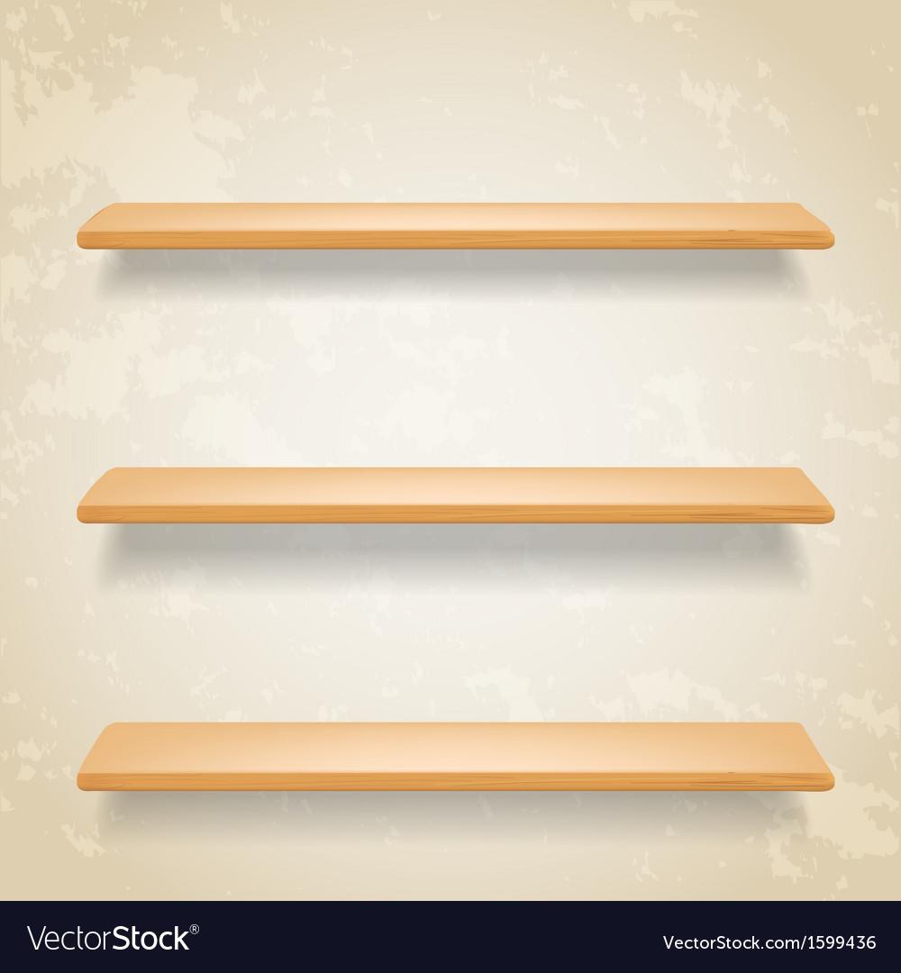 Wooden shelf vector | Price: 1 Credit (USD $1)