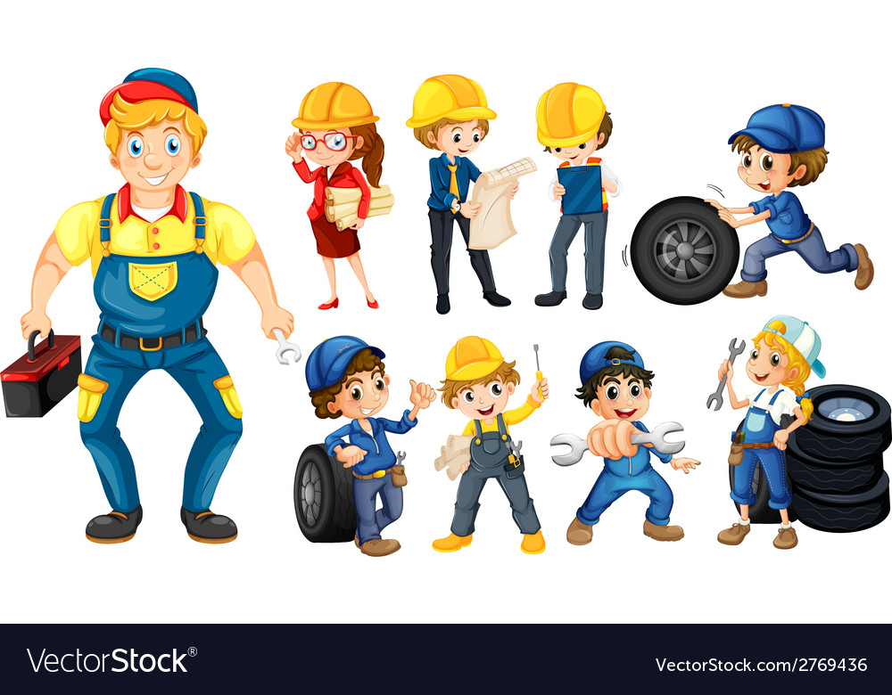 Workers vector | Price: 1 Credit (USD $1)