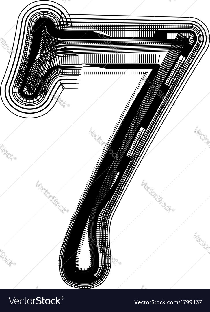 Abstract font number 7 vector   Price: 1 Credit (USD $1)