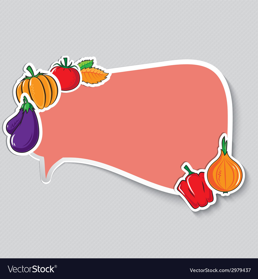 Autumn sticker with vegetables vector
