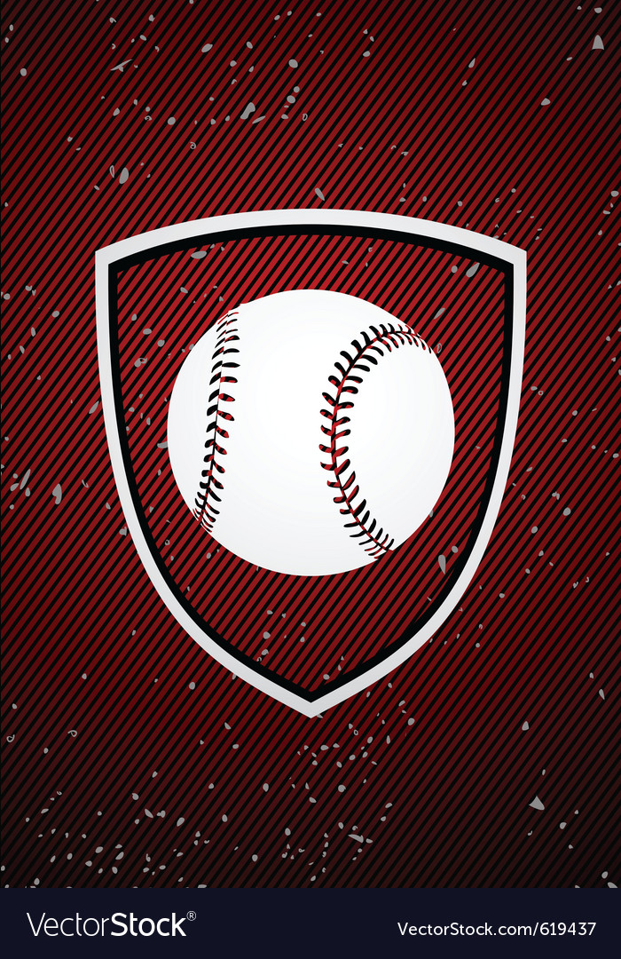 Baseball badge vector | Price: 1 Credit (USD $1)
