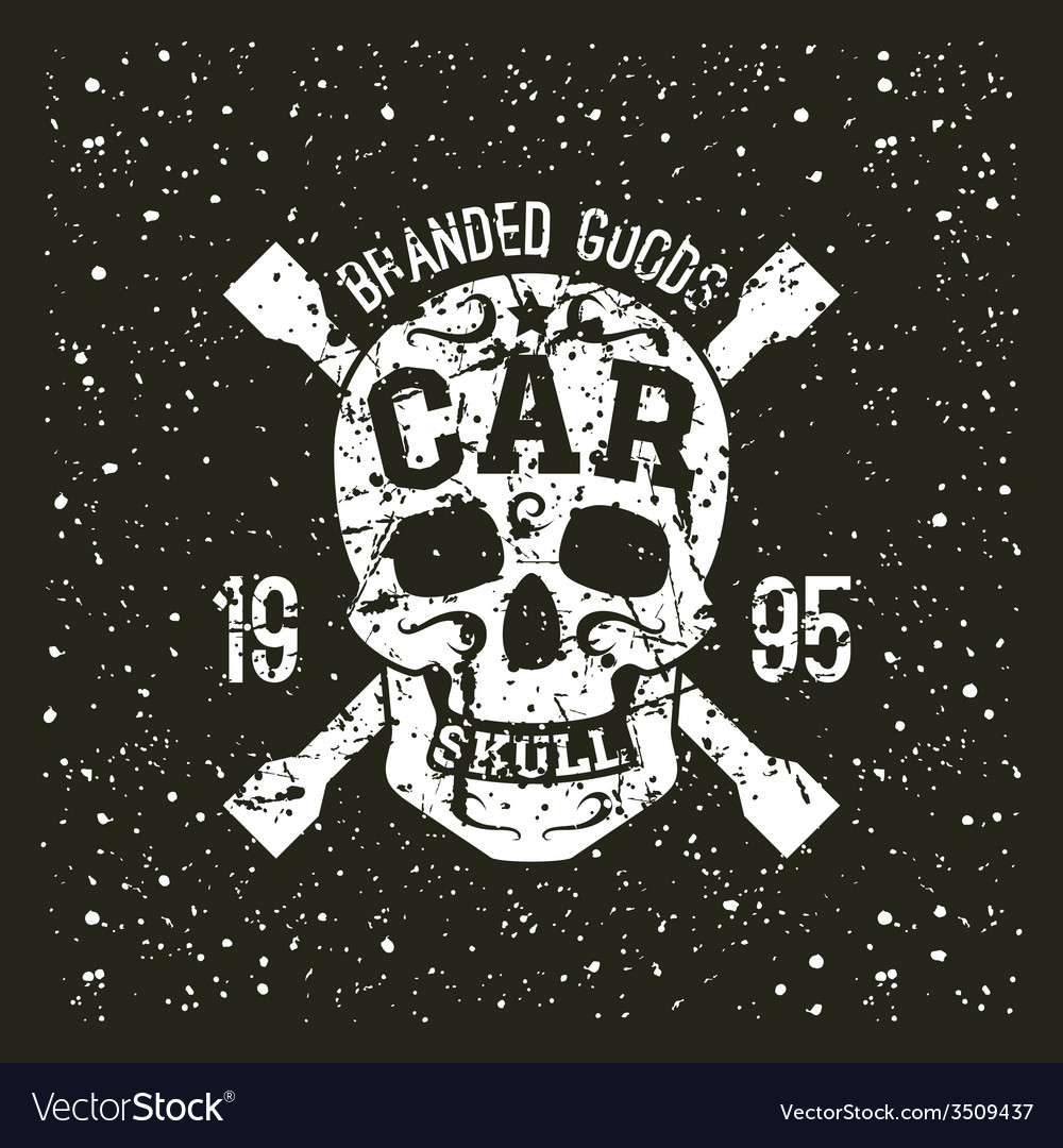 Car skull emblem vector | Price: 1 Credit (USD $1)