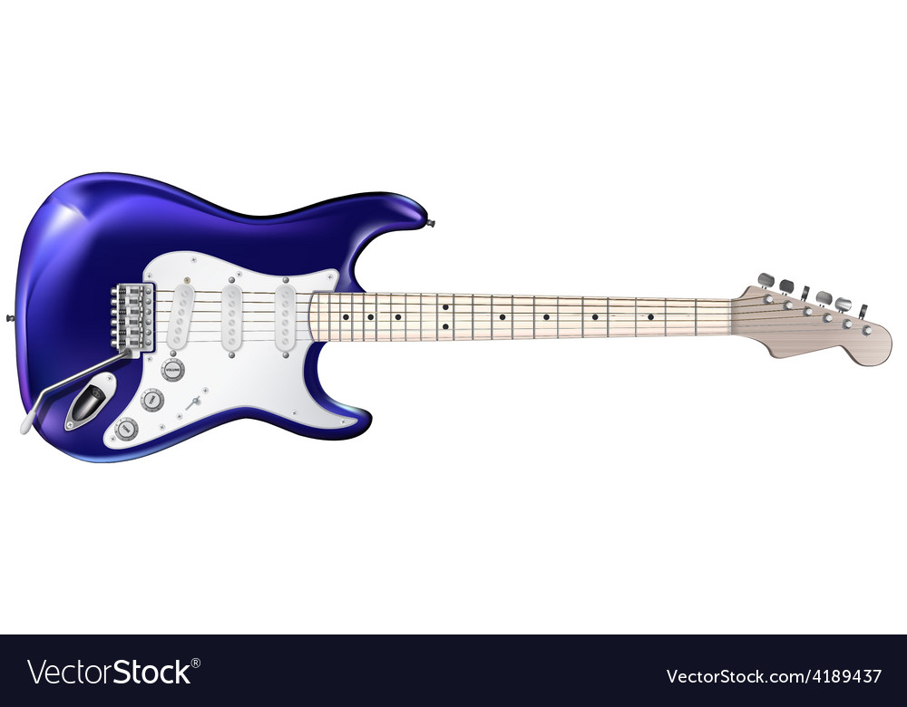 Electric guitar isolated on a white background vector | Price: 1 Credit (USD $1)